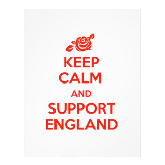 Keep Calm and support England Letterhead