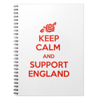 Keep Calm and support England Notebook