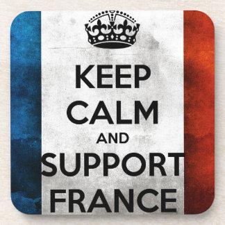 Keep Calm and Support France Posavasos De Bebida