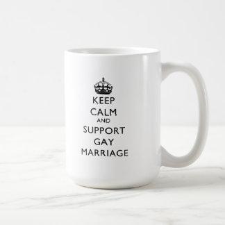 Keep Calm and Support Gay Marriage Coffee Mug