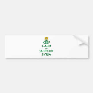 KEEP CALM AND SUPPORT SYRIA BUMPER STICKER