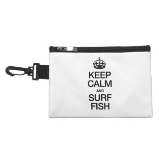 KEEP CALM AND SURF FISH ACCESSORY BAGS