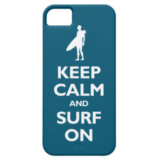 Keep Calm and Surf On (oceanside) iPhone SE/5/5s Case