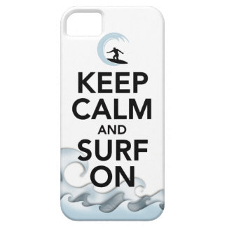 keep calm and surf on surfer board water sport iPhone SE/5/5s case
