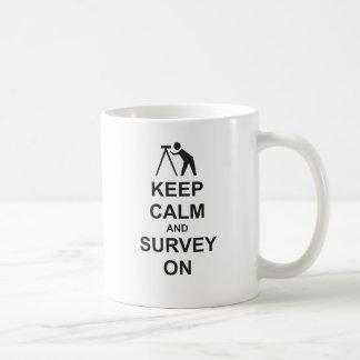 Keep Calm and Survey On Coffee Mug