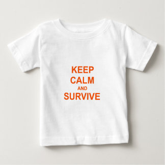 Keep Calm and Survive orange pink red Tees