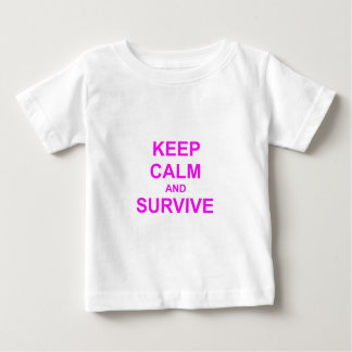 Keep Calm and Survive orange pink red Tshirts
