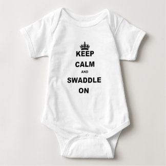 KEEP CALM AND SWADDLE ON.png Baby Bodysuit