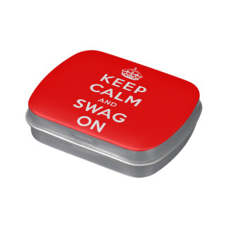 Keep Calm and Swag On Candy Tin