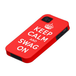 Keep Calm and Swag On Case-Mate iPhone 4 Case