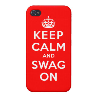 Keep Calm and Swag On Cover For iPhone 4
