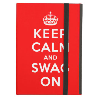Keep Calm and Swag On iPad Air Cover