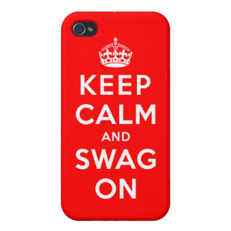 Keep Calm and Swag On iPhone 4/4S Case