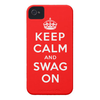 Keep Calm and Swag On iPhone 4 Case-Mate Case