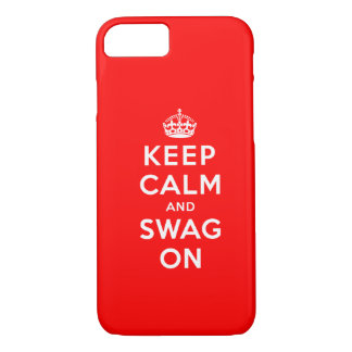 Keep Calm and Swag On iPhone 8/7 Case