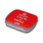Keep Calm and Swag On Jelly Belly Candy Tins