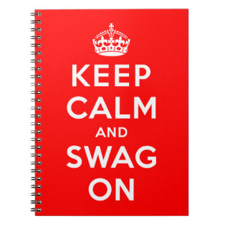 Keep Calm and Swag On Notebook