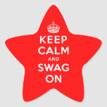 Keep Calm and Swag On Star Sticker