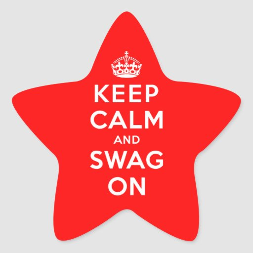 Keep Calm and Swag On Stickers