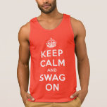 Keep Calm and Swag On Tank Top
