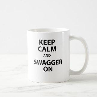 Keep Calm and Swagger On Coffee Mug