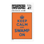 Keep Calm and Swamp On Postage Stamp