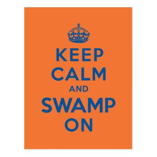 Keep Calm and Swamp On Postcard