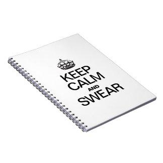 KEEP CALM AND SWEAR SPIRAL NOTEBOOKS
