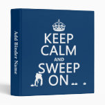 Keep Calm and Sweep On (curling)(any color) Vinyl Binders
