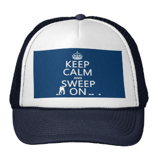 Keep Calm and Sweep On (curling)(any color) Trucker Hat