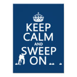 """Keep Calm and Sweep On (curling)(any color) 5.5"""" X 7.5"""" Invitation Card"""