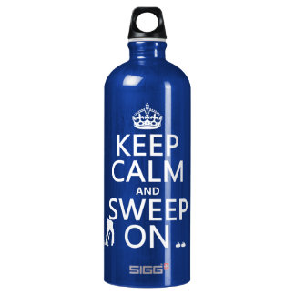 Keep Calm and Sweep On (curling)(any color) Water Bottle