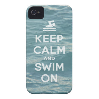 Keep Calm And Swim On Funny iPhone4S case