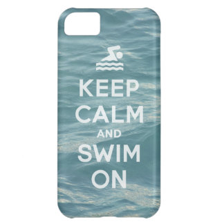 Keep Calm And Swim On Funny iPhone5 case