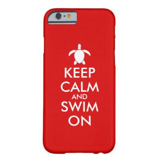 Keep Calm and Swim On Honu Sea Turtle Custom Barely There iPhone 6 Case