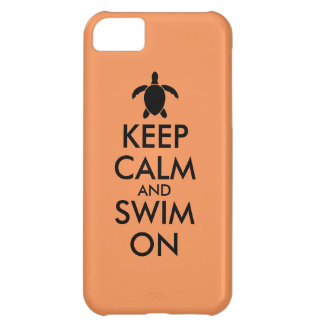 Keep Calm and Swim On Honu Sea Turtle Custom Cover For iPhone 5C