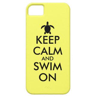 Keep Calm and Swim On Honu Sea Turtle Custom iPhone SE/5/5s Case