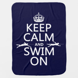 Baby Blanket with Keep Calm and Swim On design