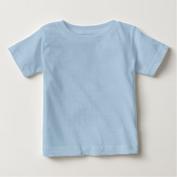 Baby Fine Jersey T-Shirt with Keep Calm and Swim On design