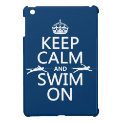 Case Savvy iPad Mini Glossy Finish Case with Keep Calm and Swim On design