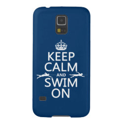 Keep Calm and Swim On Case-Mate Barely There Samsung Galaxy S5 Case