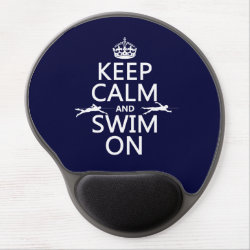 Gel Mousepad with Keep Calm and Swim On design