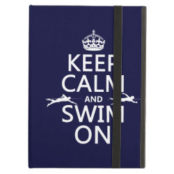 Keep Calm and Swim On iPad Air Powis Case
