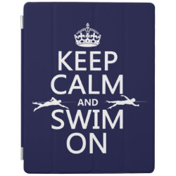 iPad 2/3/4 Cover with Keep Calm and Swim On design
