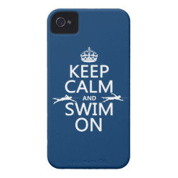 Case-Mate iPhone 4 Barely There Universal Case with Keep Calm and Swim On design