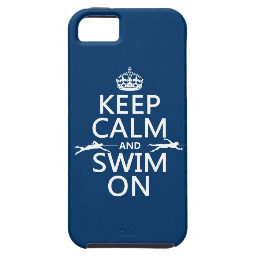 Keep Calm and Swim On (in any color) iPhone SE/5/5s Case