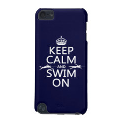 Case-Mate Barely There 5th Generation iPod Touch Case with Keep Calm and Swim On design