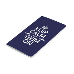 Pocket Journal with Keep Calm and Swim On design