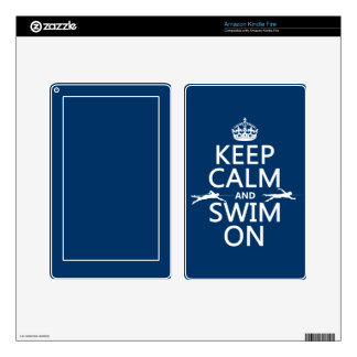 Keep Calm and Swim On (in any color) Kindle Fire Decals