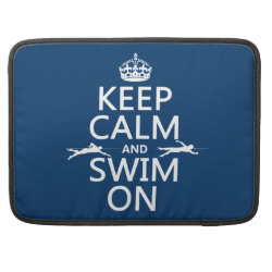 Macbook Pro 15' Flap Sleeve with Keep Calm and Swim On design